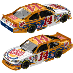 TONY STEWART 14 BURGER KING FLASHCOAT SILVER 2011